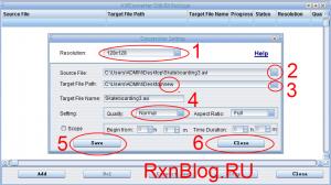 Конвертирование AVI файлов под Qumo Boxon - указание разрешения, качества, папок