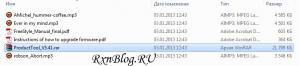 Скриншот файлов внутри плеера