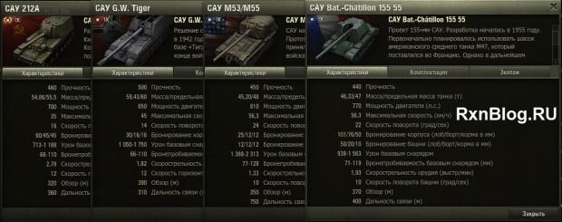 Сравнение артиллерии 9 уровня