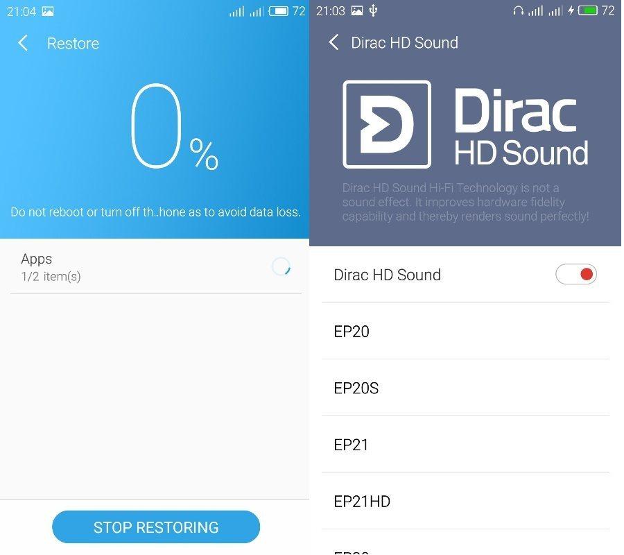 Как вернуть Dirac HD Sound в Flyme 5